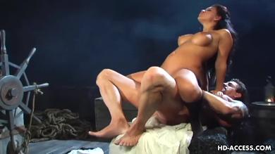 Big titted brunette slut Eva Angelina in hot Cock ride Fuck